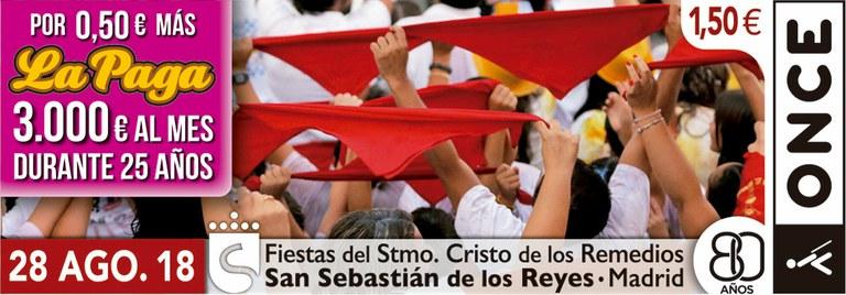 Cupón del 28 de agosto dedicado a las Fiestas de San Sebastián de los Reyes