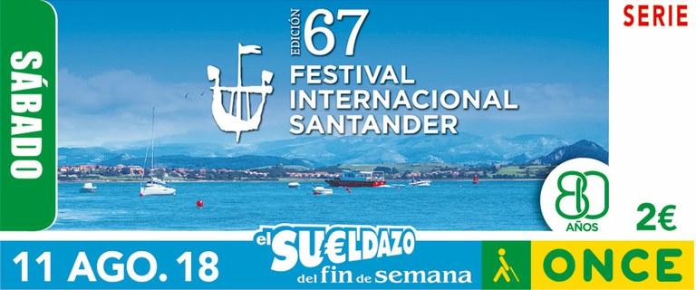 Cupón del 11 de agosto dedicado a la 67 edición del Festival Internacional de Santander