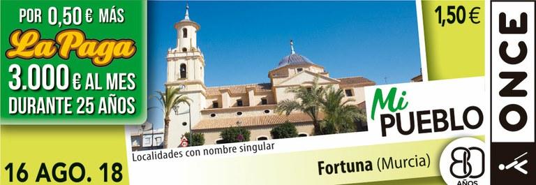 Cupón del 16 de agosto dedicado a Fortuna