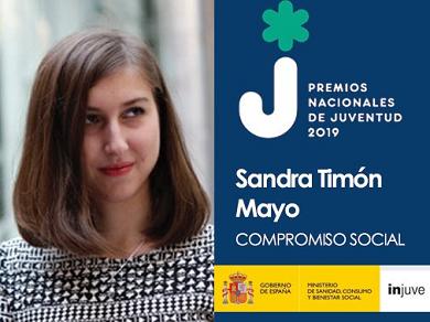 Sandra Timón, premio Injuve 2019