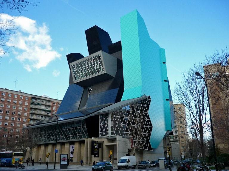 Fachada del Instituto Aragonés de Arte y Cultura Contemporáneos Pablo Serrano