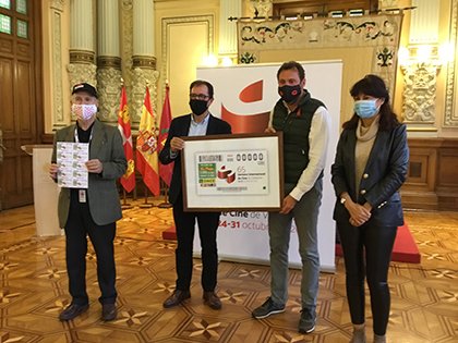 Presentación del cupón dedicado a la Semana Internacional de Cine de Valladolid, SEMINCI