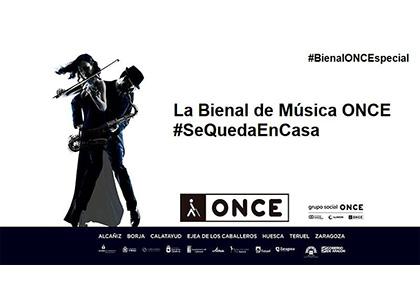 Cartel de la Bienal Música ONCE se queda en casa