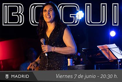 Cartel publicitario de la actuación de Loly Ayuma en la sala Bogui