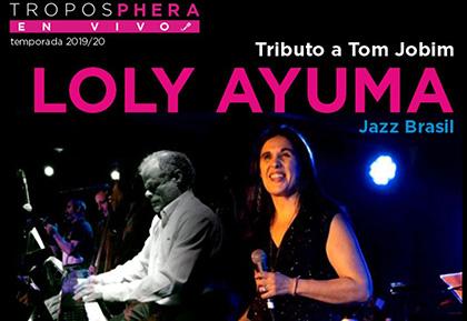 Cartel Concierto Tributo a Tom Jobim a cargo de Loly Ayuma
