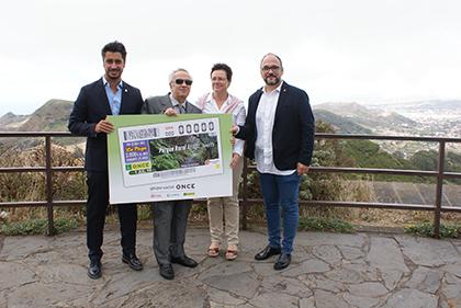 Presentación del cupón que la ONCE dedica al Parque Rural de Anaga