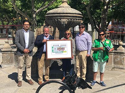 Presentacion del cupón de la ONCE dedicado a la FIesta Goyesca de Piedrahita