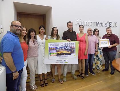 Presentación del cupón de la ONCE dedicado a La Nit de l`Albà de Elche