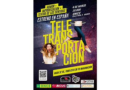 Cartel del estreno del espectáculo de Teletransportación
