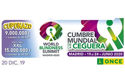 Cupón del 20 de diciembre dedicado al Worl Blindness Summit