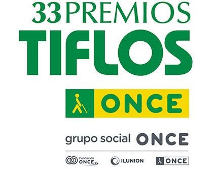 Logotipo de la 33 edición de los Premios Tiflos de la ONCE