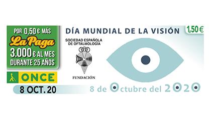 Cupón de la ONCE dedicado al Día Mundial de la Visión