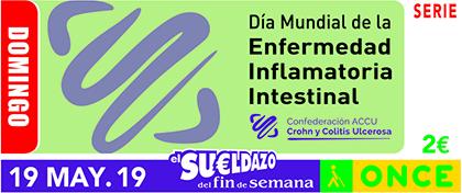 Cupón de la ONCE dedicado al Día Mundial de la Enfermedad Inflamatoria Intestinal
