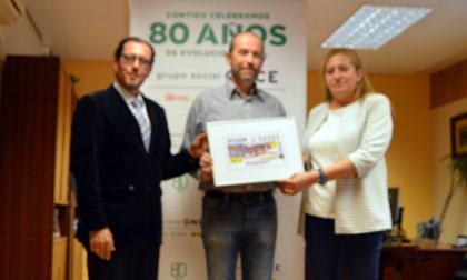 Foto de familia de la presentación del cupón dedicado a Lagartos