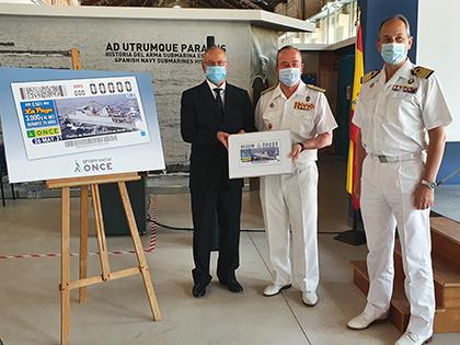 Presentación del cupón dedicado al 75 aniversario de la Flotilla de Medidas Contraminas