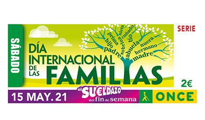 Cupón de la ONCE dedicado al Día Internacional de las Familias