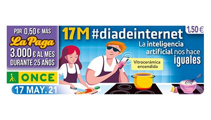 Cupón de la ONCE dedicado al Día Mundial de Internet