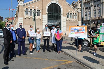 Presentación del cupón dedicado al Mercado de Verónicas de Murcia