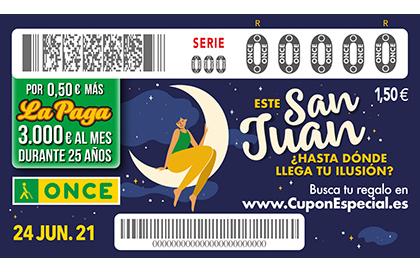 Cupón de la ONCE dedicado a la fiesta de San Juan