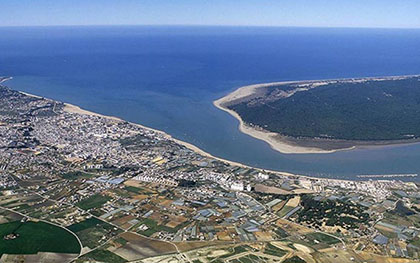 Foto aérea de Sanlúcar de Barrameda