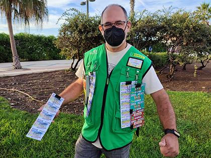 Juan Antonio Chica, vendedor de la ONCE que ha dejado un Sueldazo en Torrox