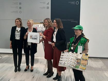 Presentación del cupón de la ONCE dedicado al Museo de Almería