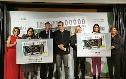 Foto de familia tras presentación del Cupón dedicado a los Premios Goya