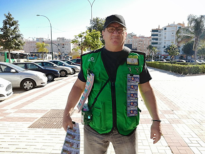 Carlos Rodríguez, vendedor de la ONCE que ha dado un Sueldazo en Málaga