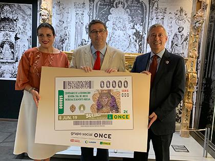 Presentación del cupón de la ONCE dedicado al Centenario de la Coronación de nuestra Señora del Rocío