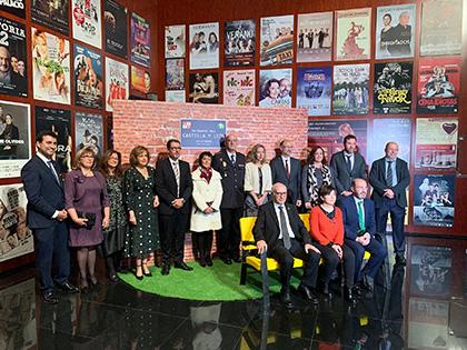 Galardonados con los Solidarios ONCE Castilla y León, con autoridades y responsables de la ONCE