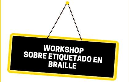 Cartel del Workshop sobre etiquetado en braille