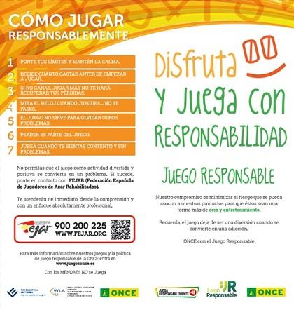 Imagen del folleto sobre Juego Responsable