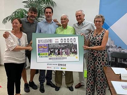Presentación de Cupón de la ONCE dedicado a Esbart Sant Pol