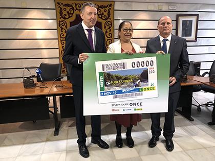 Presentación del cupón que la ONCE dedica a Punta Umbría