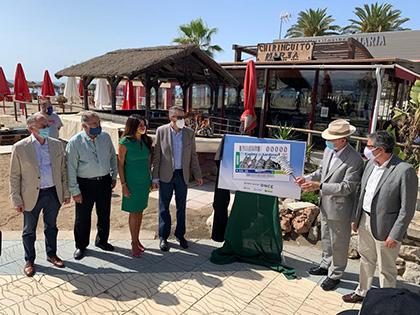 Presentación del cupón de la ONCE dedicado al Espeto de Sardina de Málaga