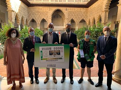 Presentación del cupón dedicado al 90 aniversario de la entrega de la llave del Real Alcázar a la ciudad de Sevilla