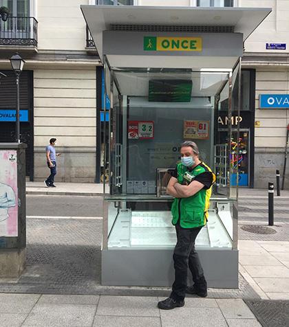 Vendedor de la ONCE en Madrid