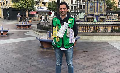 Alfonso Moreno, vendedor de la ONCE en Algeciras que ha repartido 700.000 euros