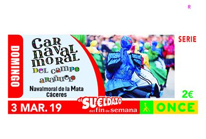 Cupón dedicado al Carnaval de Navalmoral de la Mata (Cáceres)