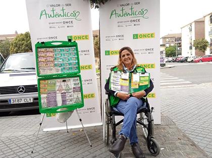 Carmen Zafra, vendedora de la ONCE que ha repartido más de 1,6 millones de euros en Córdoba