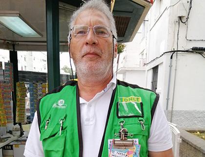 Jesús González, vendedor de la ONCE que ha repartido casi dos millones de euros en Rota