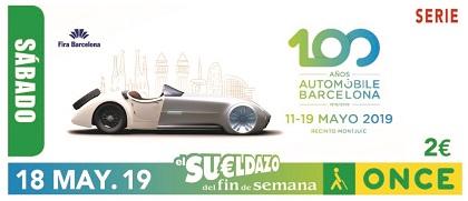 Cupón de la ONCE dedicado al Centenario del Automobile Barcelona