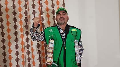 Juan Antonio Fernánez, vendedor de la ONCE que ha dado un Sueldazo en Los Gallardos Almería