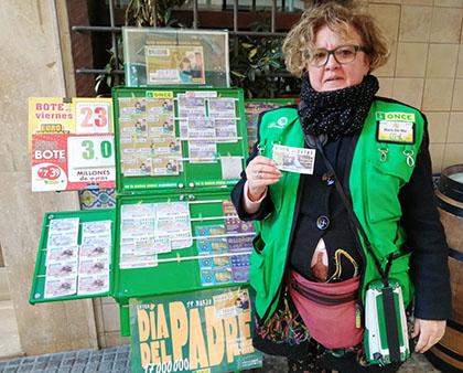 María del Mar García, vendedora que ha repartido más de un millón de euros en Cádiz
