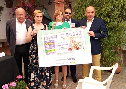 Presentación del cupón de la ONCE dedicado a la Romería de Luna de Villanueva de Córdoba
