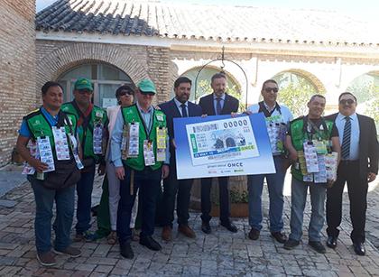 Presentación del cupón de la ONCE dedicado a la Feria de Lora del Río
