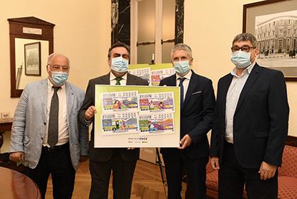 Pere Navarro, Miguel Carballeda, Fernando Grande-Marlaska y José Luis Pinto
