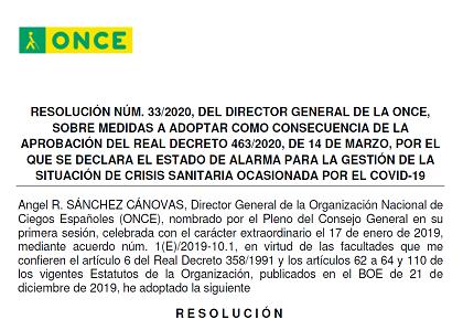 Primer párrafo de la resolución