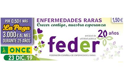 Cupón del 23 de diciembre, que inicia la colección de cupones dedicados a FEDER