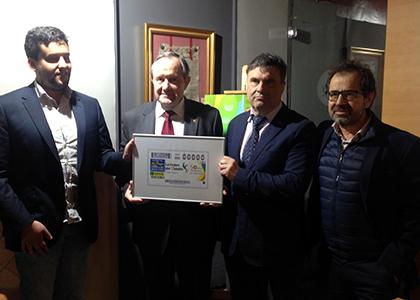 Presentación del cupón de la ONCE dedicado a los 50 años de la Orden del Volatín de Tudela
